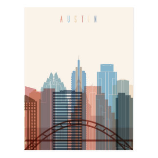 Austin, Texas | City Skyline Postcard