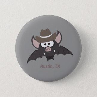 Austin, Texas - Cowboy bat 6 Cm Round Badge