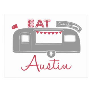 Austin Texas Food Truck Postcards