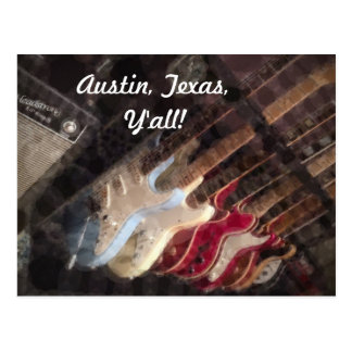 Austin Texas Guitars Guitar Postcard