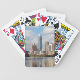 Austin Texas Skyline Bicycle Playing Cards