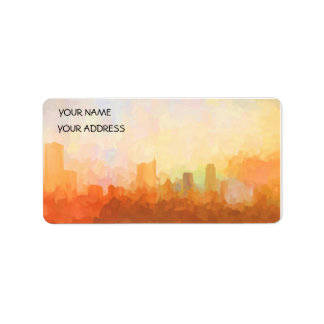 AUSTIN, TEXAS SKYLINE-In the Clouds-Address Labels