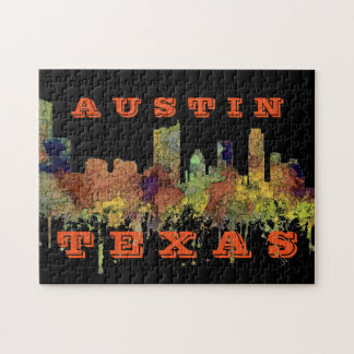 Austin, Texas Skyline - Safari Buff Jigsaw Puzzle