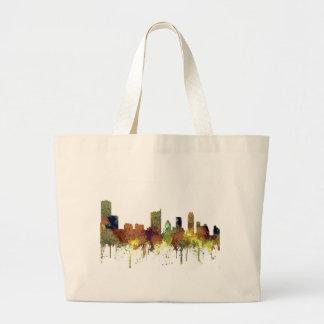 Austin, Texas Skyline - Safari Buff Large Tote Bag