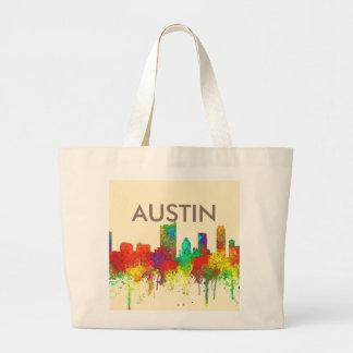 Austin Texas Skyline-SG Large Tote Bag