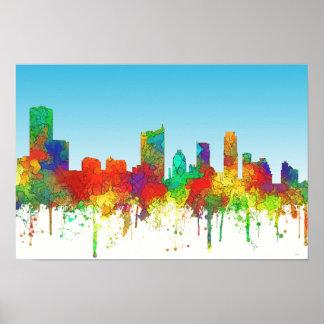 Austin Texas Skyline-SG Poster