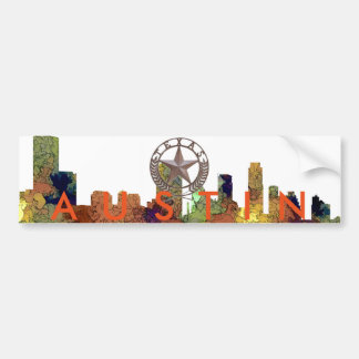 Austin Texas Skyline SG-Safari Buff Bumper Sticker