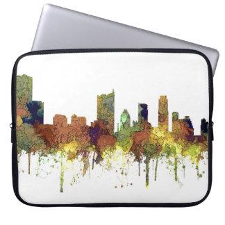 Austin Texas Skyline SG-Safari Buff Laptop Sleeve