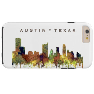 Austin Texas Skyline SG-Safari Buff Tough iPhone 6 Plus Case