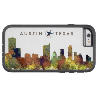 Austin Texas Skyline SG-Safari Buff Tough Xtreme iPhone 6 Case