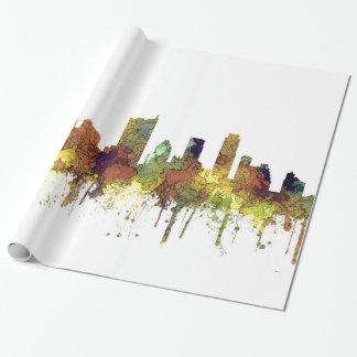 Austin Texas Skyline SG-Safari Buff Wrapping Paper