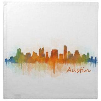 Austin Texas skyline Watercolor v3 Napkin