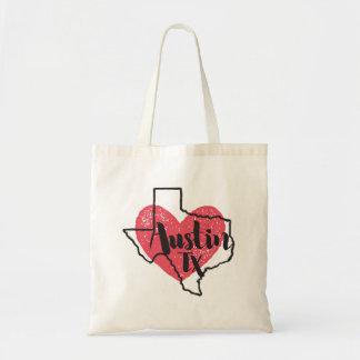 Austin Texas State Tote Bag