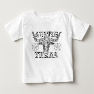 Austin Texas Steer Line Art Design Baby T-Shirt
