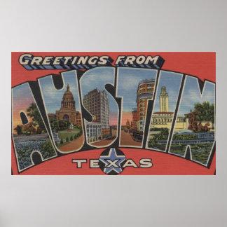 Austin, TexasLarge Letter ScenesAustin, TX Poster