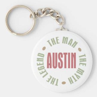 Austin the Man the Myth the Legend Basic Round Button Key Ring