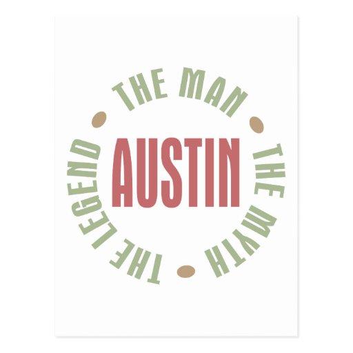 Austin the Man the Myth the Legend Postcard