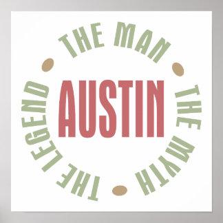 Austin the Man the Myth the Legend Poster