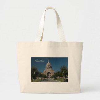 Austin, TX Capitol Building Large Tote Bag