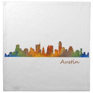 Austin watercolor Texas skyline v1 Napkin