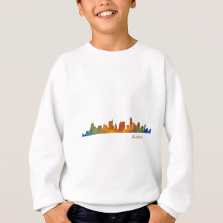 Austin watercolor Texas skyline v1 Sweatshirt