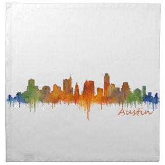 Austin watercolor Texas skyline v2 Napkin