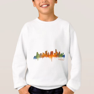 Austin watercolor Texas skyline v2 Sweatshirt