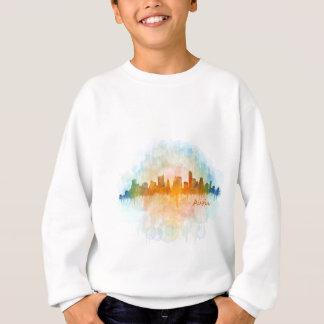 Austin watercolor Texas skyline v4 Sweatshirt