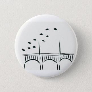 Austin's Congress Bridge 6 Cm Round Badge