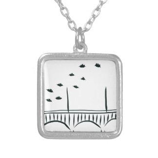 Austin's Congress Bridge Silver Plated Necklace