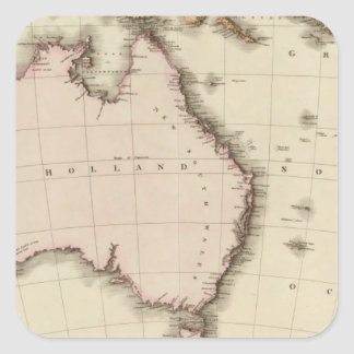 Australasia Square Sticker