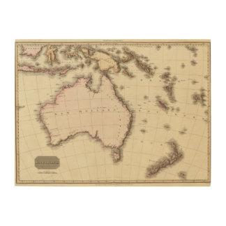 Australasia Wood Print