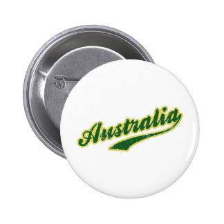 Australia 6 Cm Round Badge