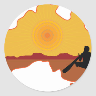 Australia Aboriginal Round Sticker