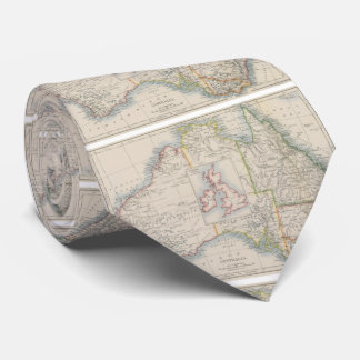 Australia and British Isles Size Comparison Map Tie
