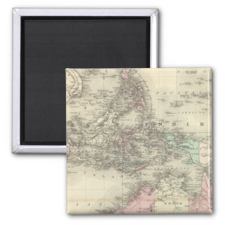 Australia and East Indies Square Magnet