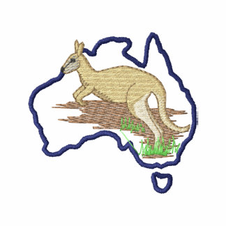 Australia and Kangaroo Embroidered Shirt