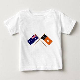 Australia and Northern Territory Crossed Flags Tshirts