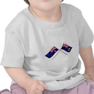Australia and South Australia Crossed Flags Tshirts