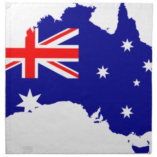 Australia Australia Day Borders Collection Country Napkin