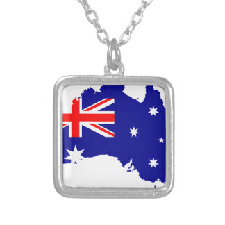 Australia Australia Day Borders Collection Country Silver Plated Necklace
