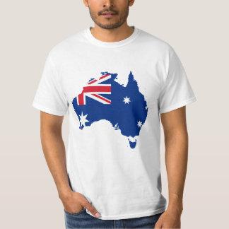 Australia - Australian Flag Map T-Shirt