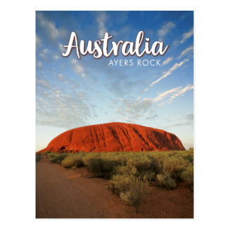 australia ayers rock postcard