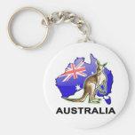 Australia Basic Round Button Key Ring