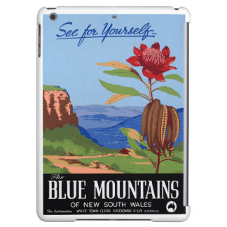 Australia Blue Mountains Restored Vintage Poster Case For iPad Air