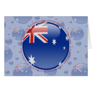 Australia Bubble Flag Greeting Card