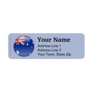 Australia Bubble Flag Return Address Label