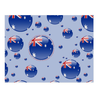 Australia Bubble Flag Postcard