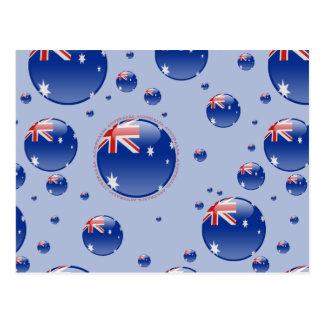 Australia Bubble Flag Postcards