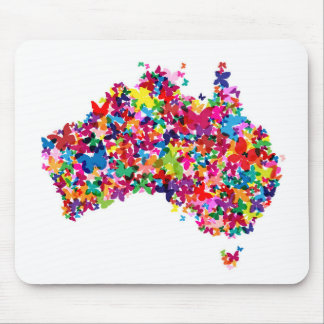 Australia Butterfly Map Mouse Pad